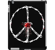 barbed wired peace with blood iPad Case/Skin