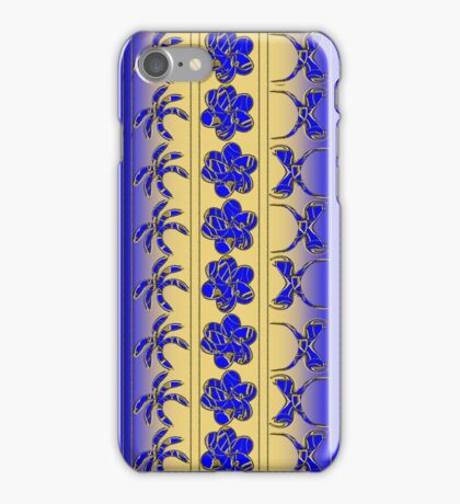 Gold n' Blue Tropical Trimming iPhone Case/Skin