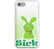 Sick green monster iPhone Case/Skin