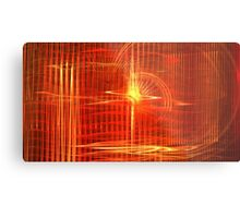 Red Sun Canopy Metal Print