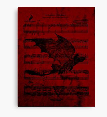 Toothless in flight  Canvas Print