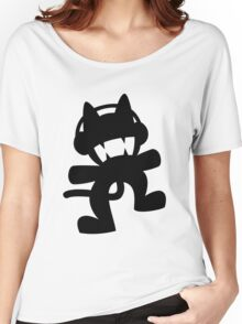 Monstercat | Black Logo | White Background | High Quality Women's Relaxed Fit T-Shirt