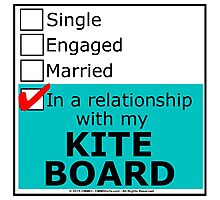 In A Relationship With My Kite Board Photographic Print