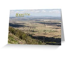 View from Mt Borah, Manilla Greeting Card