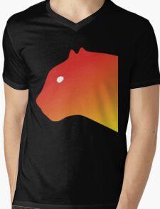 Red Panthero Mens V-Neck T-Shirt