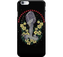 Distressed Vintage DJ Microphone iPhone Case/Skin