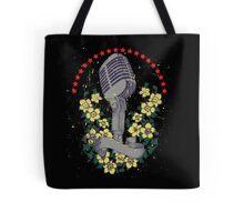 Distressed Vintage DJ Microphone Tote Bag