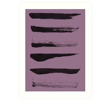Brush Strokes Art Print