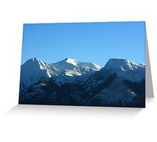 Mission Mountains in Winter Greeting Card