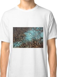 Teal and brown water color photo Classic T-Shirt