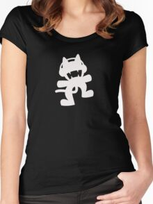 Monstercat | White Logo | Black Background | High Quality Women's Fitted Scoop T-Shirt