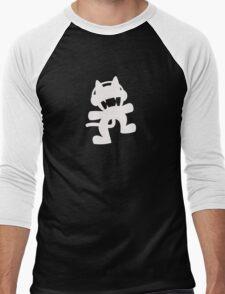 Monstercat | White Logo | Black Background | High Quality Men's Baseball ¾ T-Shirt