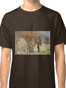 Serval Cat & Male Kitten Classic T-Shirt