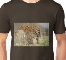 Serval Cat & Male Kitten Unisex T-Shirt