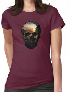 Pacific Skull Womens Fitted T-Shirt
