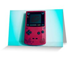 Game Girl Color Greeting Card
