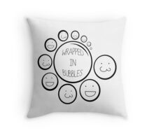 Wrapped In Bubbles Throw Pillow