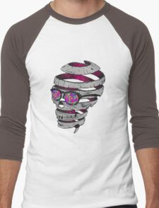 Trippy Skull Men's Baseball ¾ T-Shirt