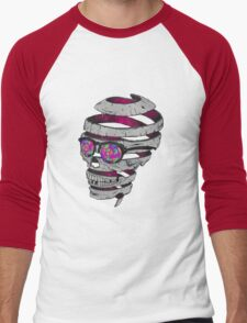 Trippy Skull Men's Baseball ¾ T-Shirt