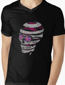 Trippy Skull Mens V-Neck T-Shirt