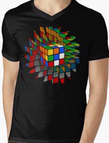 Rubik's Cube Mens V-Neck T-Shirt
