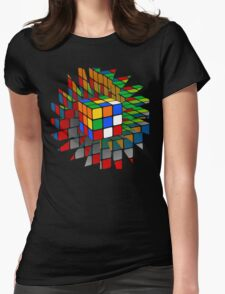 Rubik's Cube Womens Fitted T-Shirt