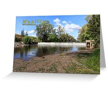 Manilla Weir on Namoi River Greeting Card
