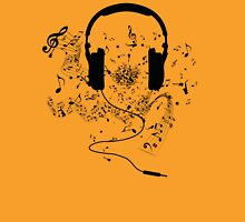 Headphones and music notes Unisex T-Shirt
