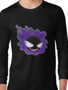 Ghost Types - Gastly - Purple Pattern Long Sleeve T-Shirt