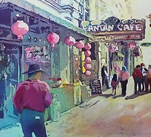 Cowboy in Chinatown by JennyArmitage