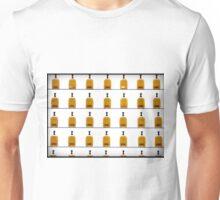 Bourbon bottles on shelf color photo Unisex T-Shirt