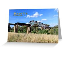Rail Bridge & Viaduct over Namoi River Greeting Card