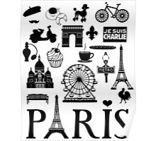 Paris icons Poster