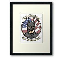 BatOfferman - For President Framed Print