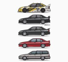 Stack of Opel Omegas / Vauxhall Carlton A One Piece - Short Sleeve