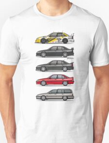 Stack of Opel Omegas / Vauxhall Carlton A Unisex T-Shirt