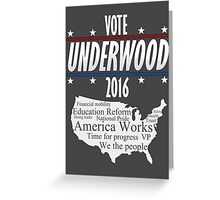 Vote Frank Underwood 2016 Greeting Card