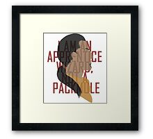 Marcurio is most certainly a pack mule Framed Print