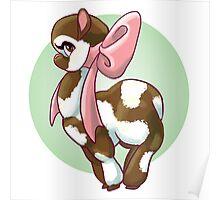 Cutie Bow Llama Poster