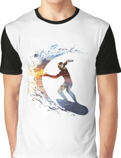 Surfing during sunset Graphic T-Shirt