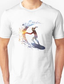Surfing during sunset T-Shirt