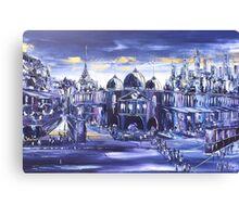 Melbourne Signature in Twilight Canvas Print