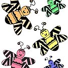 Colorful Bees by CarolM