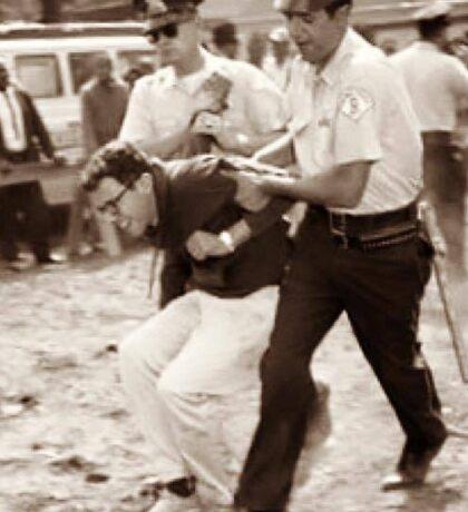 Bernie Sanders Getting Arrested Sticker