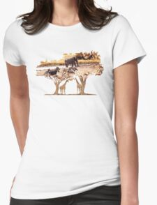 African Nature Womens Fitted T-Shirt