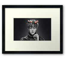 BTS Jin Flower Crown 1 Original Framed Print