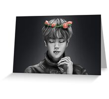 BTS Jin Flower Crown 1 Original Greeting Card