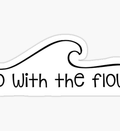 Go With the Flow Wave Sticker