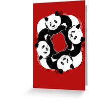 PANDA PLAY Greeting Card