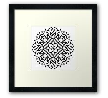 Flower and Flame Mandala Framed Print